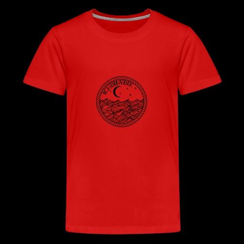 IBV Die Lichter das Meer black - Teenager Premium T-Shirt