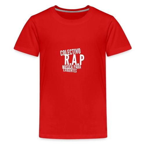 SOLO PARA AMANTES DEL RAP// Colectivo R.A.P - Camiseta premium adolescente
