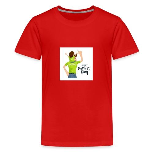 Pngtree precious happy moment with superdad 35709 - T-shirt Premium Ado