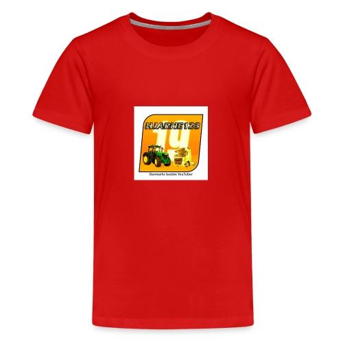 hjarne 123 danmarks bedeste youtuber - Teenager premium T-shirt