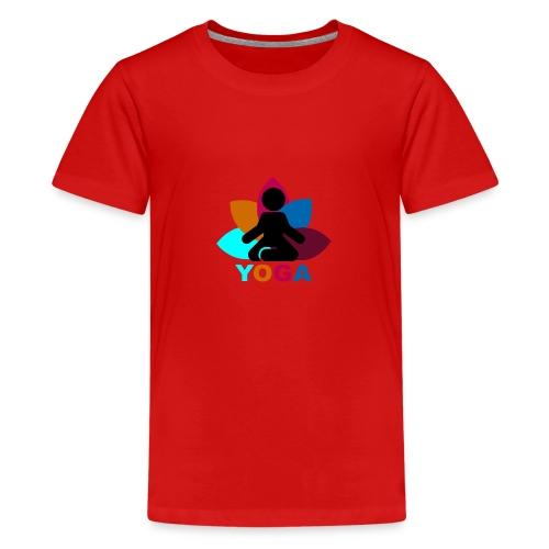 yoga - Teenage Premium T-Shirt
