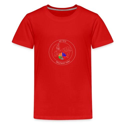 T Shirt Logo weiss trans ohne rand - Teenager Premium T-Shirt