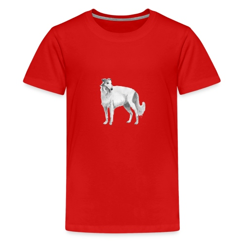 Borzoi - Teenager premium T-shirt