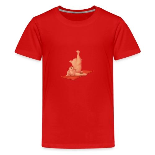 Yoga - Schweindi - Teenager Premium T-Shirt