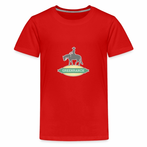 Greenranch Logo mit weissem Rand - Teenager Premium T-Shirt