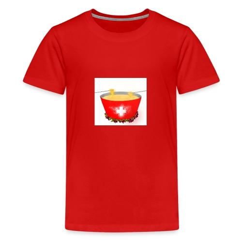 Einzigartiges Schweizer Fondue T-Shirt - Teenager Premium T-Shirt