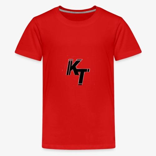 Skrapigt vit KT - Premium-T-shirt tonåring
