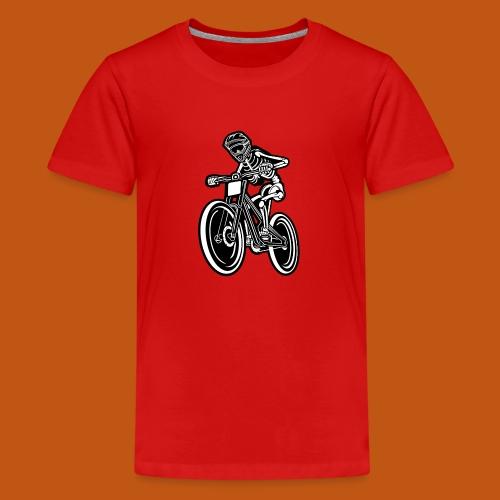 BMX / Mountain Biker 04_schwarz weiß - Teenager Premium T-Shirt