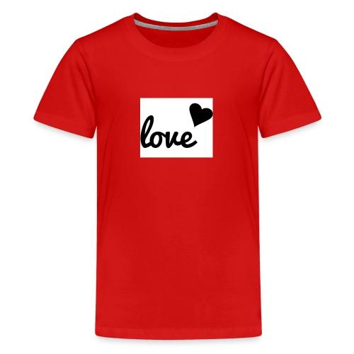 Handyhülle schwarz weiß love - Teenager Premium T-Shirt