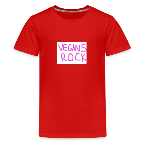 VEGANS ROCK - Teenage Premium T-Shirt