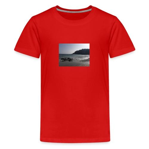 Guernsey Channel Island Beach - Teenage Premium T-Shirt