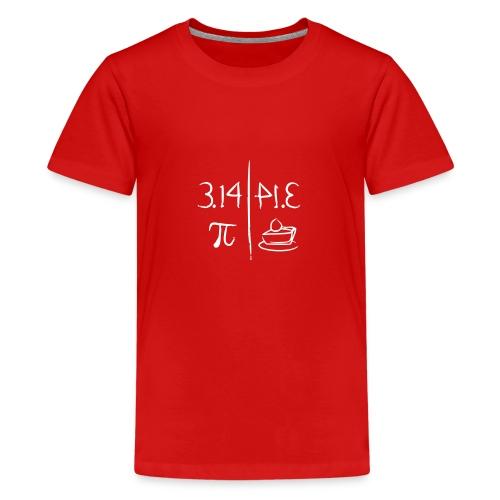 pi vs pie - Teenage Premium T-Shirt