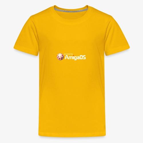 PoweredByAmigaOS white - Teenage Premium T-Shirt