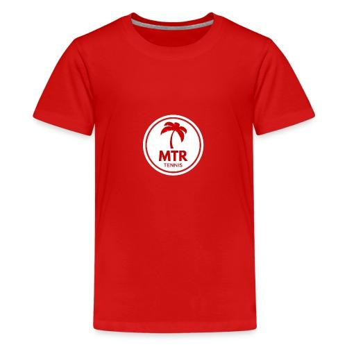 MTR Tennis White - Teenage Premium T-Shirt