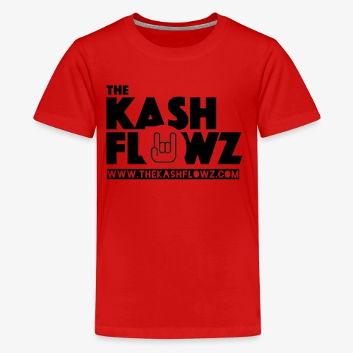The Kash Flowz Official Web Site Black - T-shirt Premium Ado