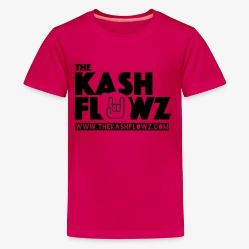 The Kash Flowz Official Web Site Black - T-shirt Premium Ado