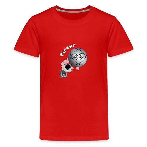t shirt tireur pétanque boule existe en pointeur B - T-shirt Premium Ado