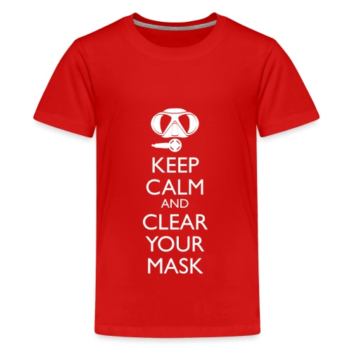 Keep Calm and clear your Mask Männer Tank Top - Teenager Premium T-Shirt