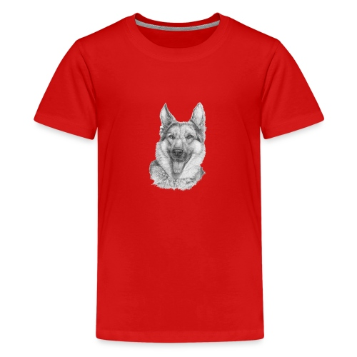 Schæfer German shepherd - Teenager premium T-shirt