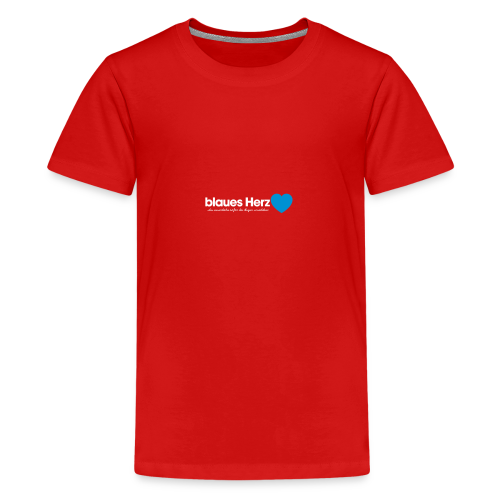 blaues Herz - Teenager Premium T-Shirt