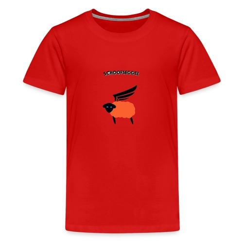 Schoofseggel (gross mit Schriftzug) - Teenager Premium T-Shirt