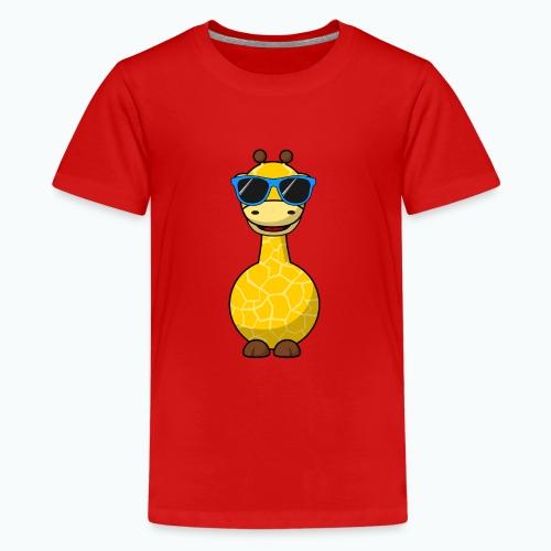 Gigi Giraffe with sunglasses - Appelsin - Premium-T-shirt tonåring