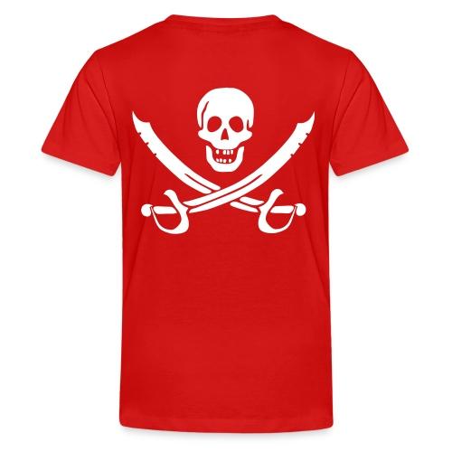 Piratenpullover Mann Weiß-Schwarz - Teenager Premium T-Shirt