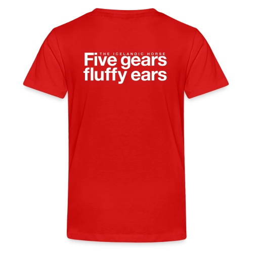Five gears fluffy ears - Premium T-skjorte for tenåringer