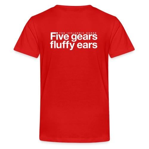 Five gears fluffy ears - Premium T-skjorte for tenåringer