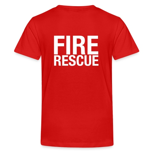 Fire and Rescue - Teenage Premium T-Shirt