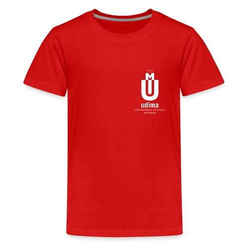 udi blanco vert png - Camiseta premium adolescente