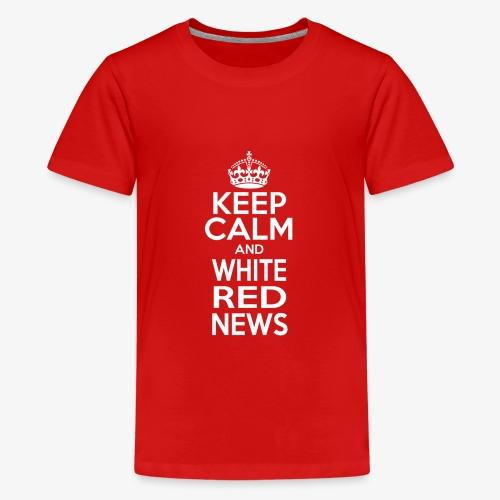 Logo bianco WRN - Maglietta Premium per ragazzi