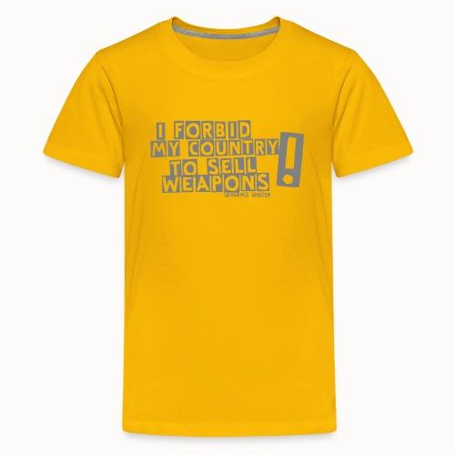 I Forbid Weapons grey - Teenager Premium T-Shirt