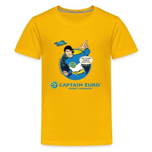 ¡LAS FUTURAS ESTRELLAS CONTIGO! círculo azul - Camiseta premium adolescente