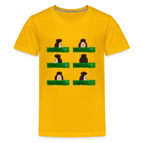 Uffi im Labyrinth - Teenager Premium T-Shirt