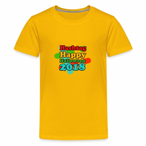 hashtag happy halloween 2018 - T-shirt Premium Ado