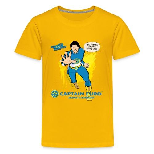 El futuro protagoniza contigo - marca azul. - Camiseta premium adolescente