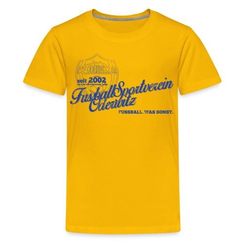 Shirt V2 Design blau Rev1 gif - Teenager Premium T-Shirt