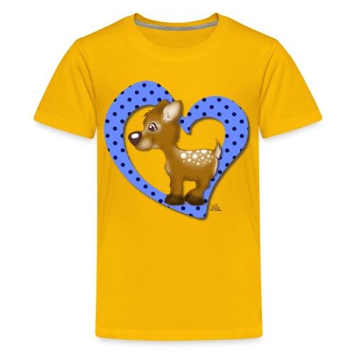Kira Kitzi Blaubeere - Teenager Premium T-Shirt