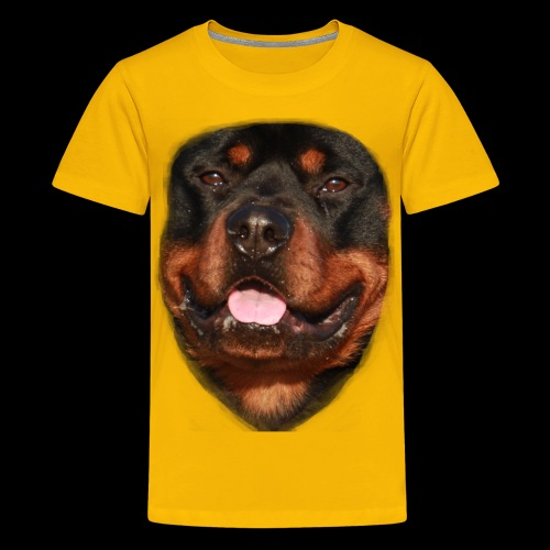 rotweiller face - Teenage Premium T-Shirt