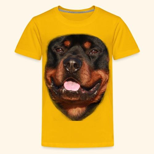rotweiller face - Teenage Premium T-Shirt