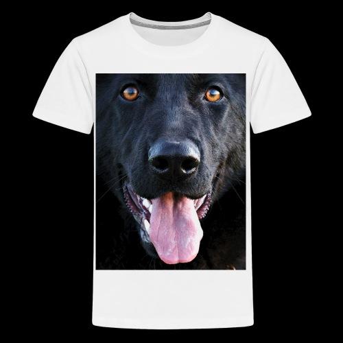 black-german-shepherd-lar - Teenage Premium T-Shirt