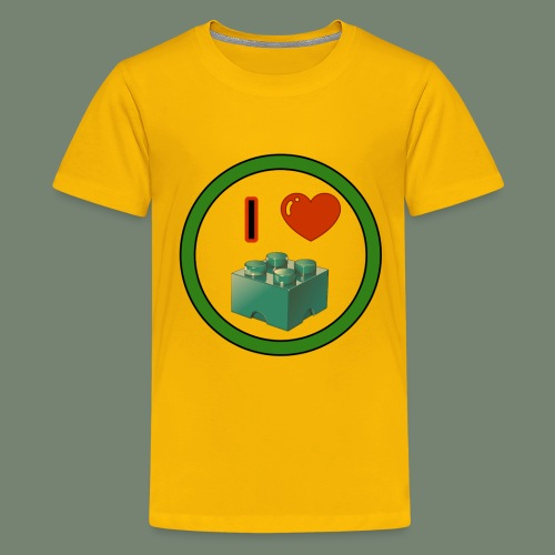 I love building blocks . Ich liebe ... Bausteine . - Teenager Premium T-Shirt