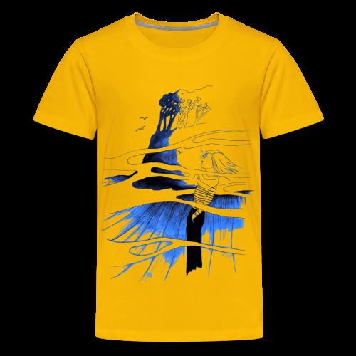 Ein Ort (blau) - Teenager Premium T-Shirt