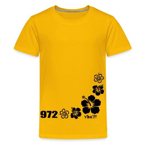 972 hibiscus2 - T-shirt Premium Ado