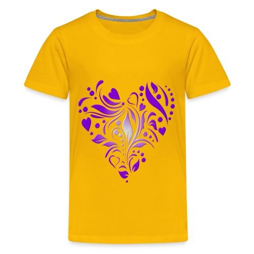 coeur mauve - T-shirt Premium Ado