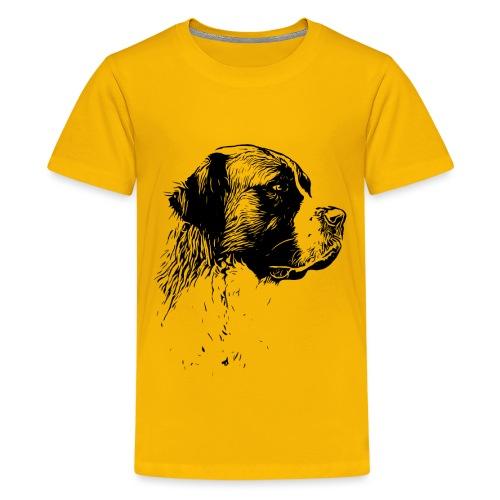 Bernhardiner Hunde Design Geschenkidee - Teenager Premium T-Shirt