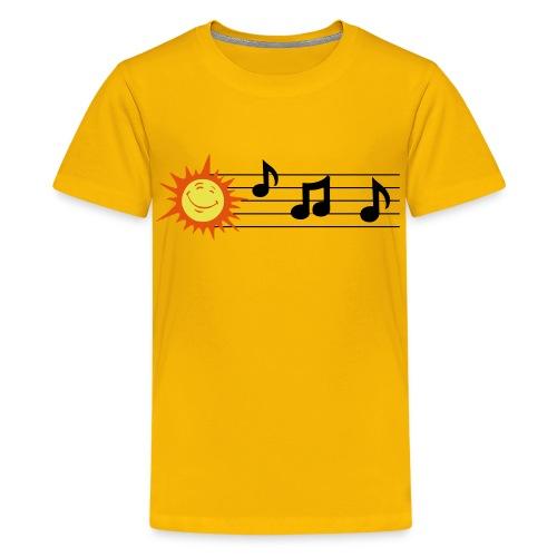 Treble Clef - Clave de Sol - Teenage Premium T-Shirt