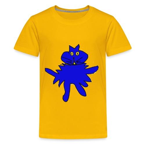 SplatCat Blue - Teenage Premium T-Shirt