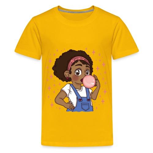 Aminata - Bubble Gum Girl - Teenager Premium T-Shirt